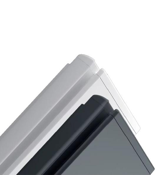 ICON radiador con 2 acabados, gris oscuro y blanco
